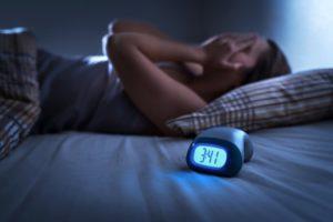 Woman who is having trouble sleeping